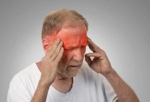man suffering from vertigo or other balance disorders