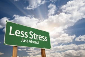 Less Stress sign