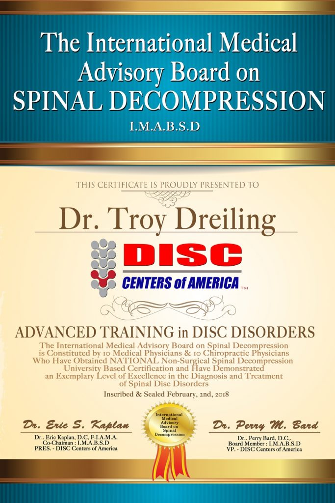 spinal decompression therapy certification dr troy dreiling